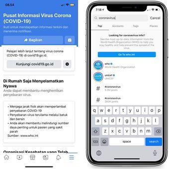 corona melanda Indonesia - Gugus Tugas Percepatan Penanganan covid 19 - wabah virus corona - facebook