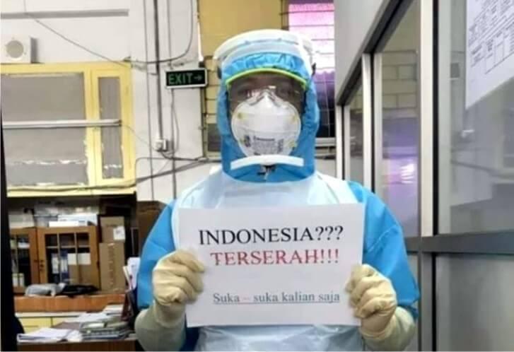 tagar indonesiaterserah trending twitter indonesia ungkapan kekesalan tenaga medis