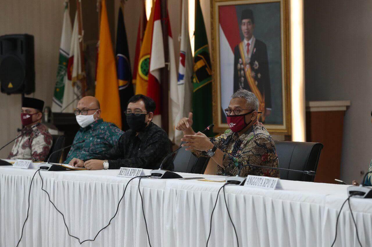 Untuk melaksanakan tahapan pemilihan lanjutan KPU menyusun PKPU tentang pelaksanaan Pemilihan 2020