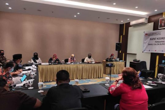 KPU Mahulu Gelar Rakor Persiapan Pemeriksaan Kesehatan Calon Kepala Daerah