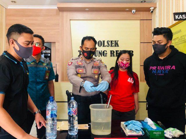 Polsek Tanjung Redeb - Sebanyak 15,46 Gram Sabu-Sabu Dilarutkan ke Dalam Air