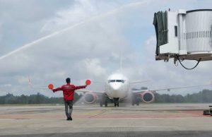Lion Air Mendarat Perdana di Berau, Pesawat Gunakan Filter HEPA Cegah COVID-19 - headlinekaltim.co
