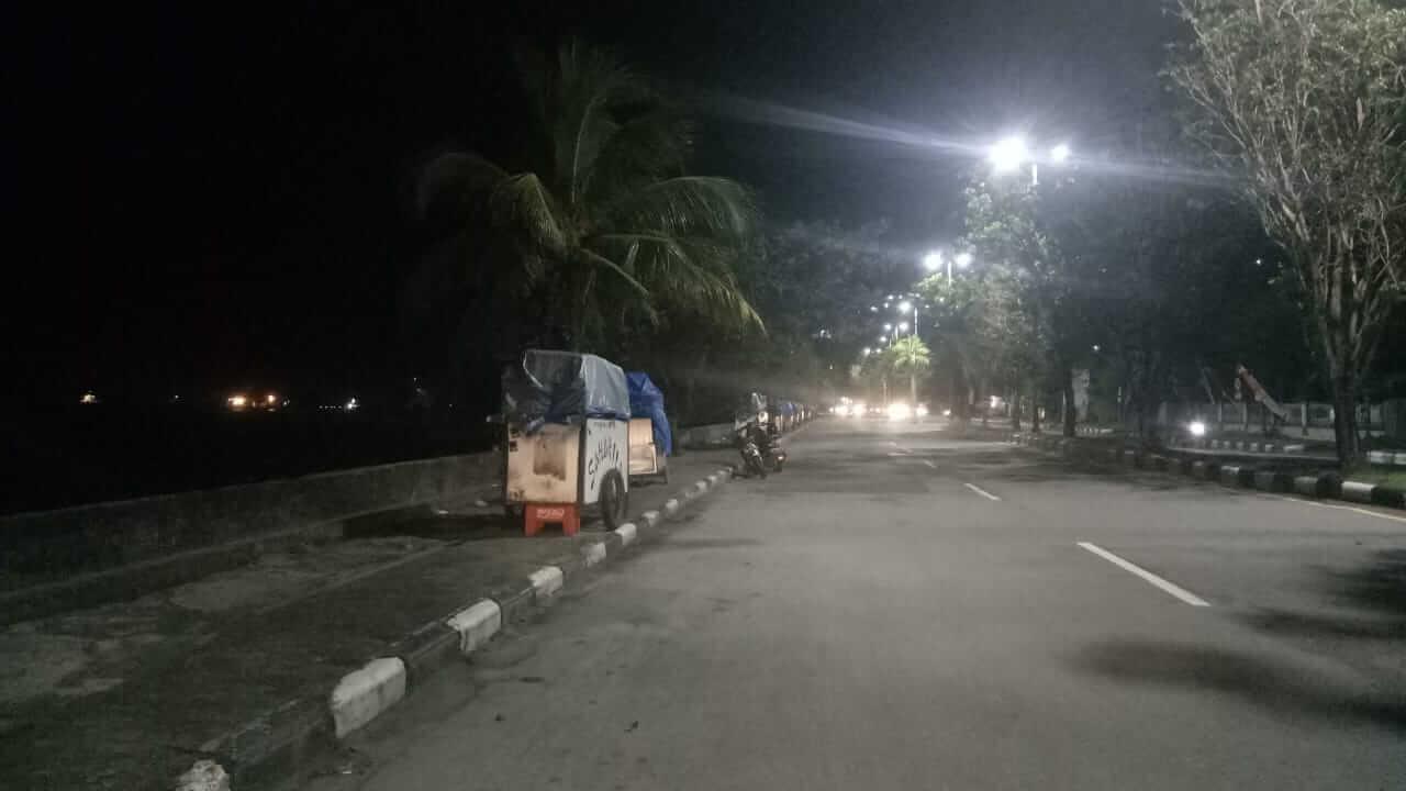 Pembatasan Jam Malam, Balikpapan Tampak Lengang - headlinekaltim.co