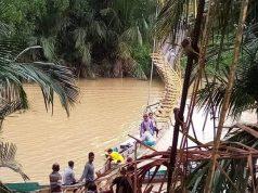 Tak Kuat Menahan Beban Penonton Balap Ketinting, Jembatan Gantung Putus - headlinekaltim