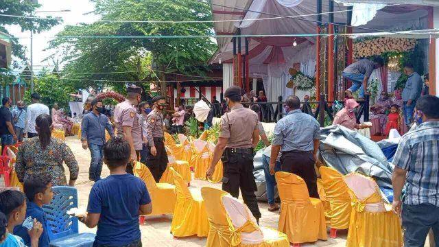 Polisi Bubarkan Resepsi Pernikahan di Pulau Derawan - headlinekaltim.co
