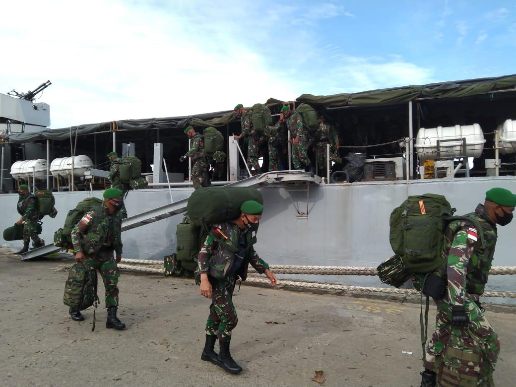 450 Personel Yonif 614/RJP Dilepas Menuju Perbatasan RI–Malaysia