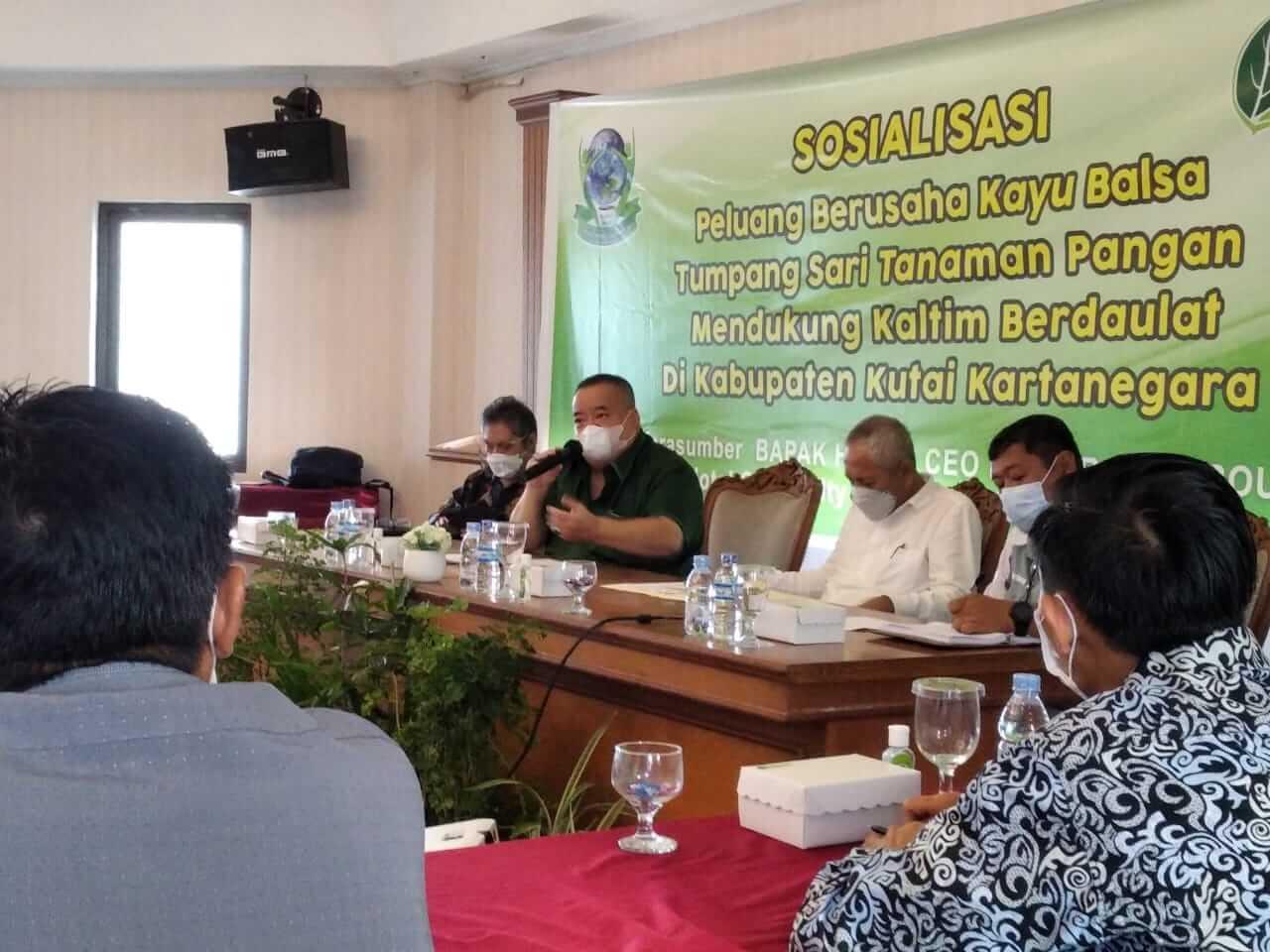 Gandeng Serayu Group, PT BHP Ingin Bangun Industri Kayu Lapis Balsa di Kukar