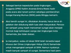 Ananda Emira Moeis Turun Langsung Aksi Bersih SKM
