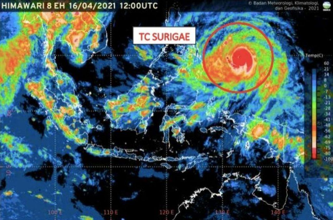 Siklon Tropis Surigae, Waspada Hujan Lebat hingga Angin Kencang