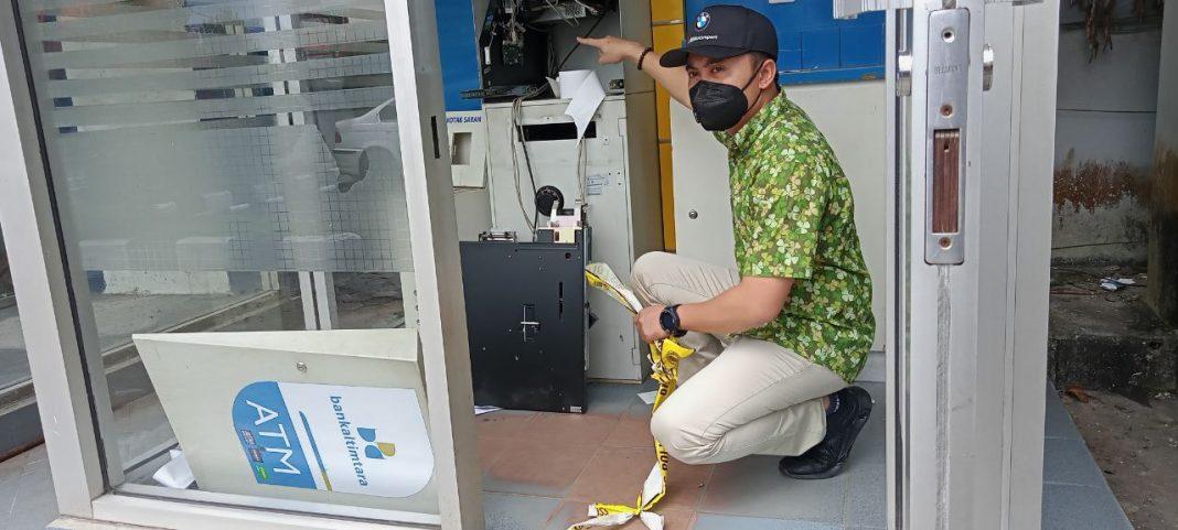 Mesin ATM Bank Kaltimtara Dibongkar Pencuri